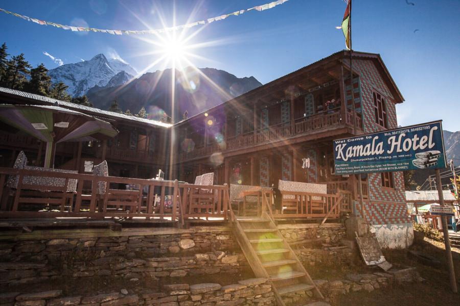 Hotel Kamala v nepálskych veľhorách (Pavel Hirax Baričák)