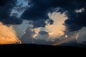 Západ slnka nad Malou Fatrou, Martinskými hoľami